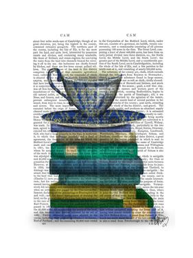 Teacup and Books by Fab Funky