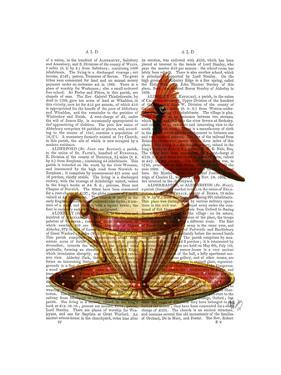 Teacup And Red Cardinal by Fab Funky