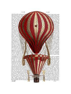 Tiered Hot Air Balloon Print Red by Fab Funky