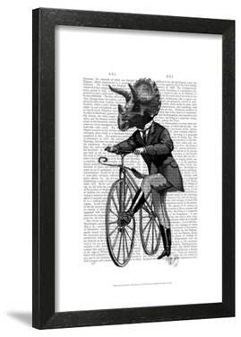 Triceratops Man on Bike Dinosaur by Fab Funky