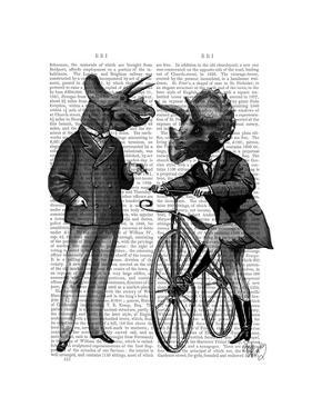 Triceratops Men What Kind of Mileage by Fab Funky