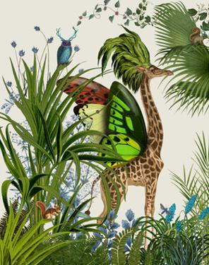 Tropical Giraffe 1 by Fab Funky