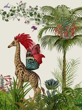Tropical Giraffe 4 by Fab Funky