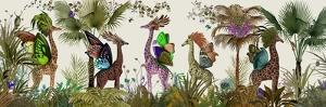 Tropical Giraffes, Moss by Fab Funky