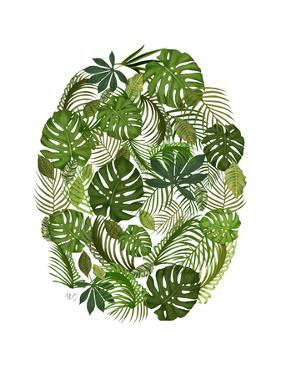 Tropical Oval, Green by Fab Funky