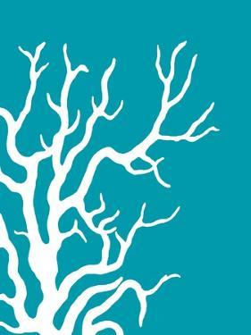 Turquoise Coral Prints b by Fab Funky