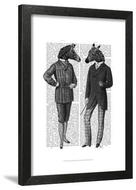 Two Zebra Gentlemen by Fab Funky