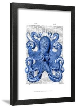 Vintage Blue Octopus 1 Front by Fab Funky