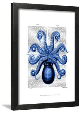 Vintage Blue Octopus 1 Underside by Fab Funky