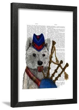 West Highland Terrier and Bagpipes by Fab Funky