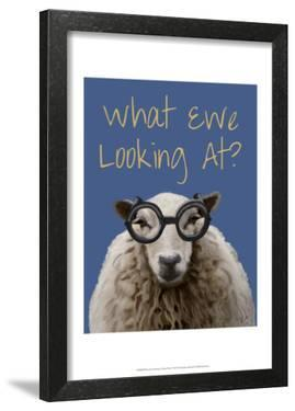 What Ewe Looking At Sheep Print by Fab Funky