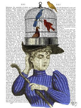 Woman with Birdcage Hat by Fab Funky