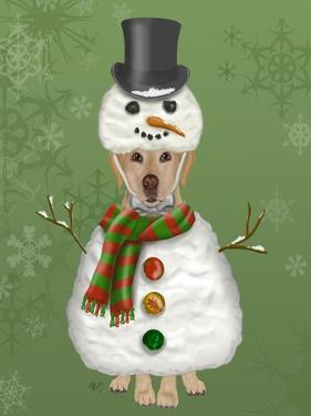 Yellow Labrador, Snowman Costume by Fab Funky