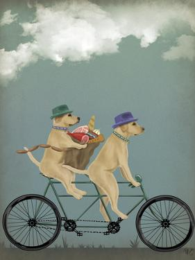 Yellow Labrador Tandem by Fab Funky