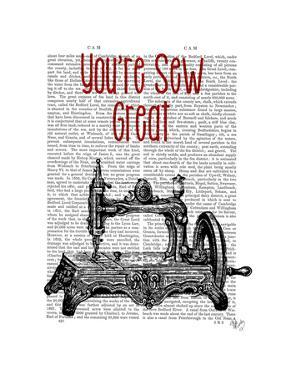You're Sew Great Illustration by Fab Funky