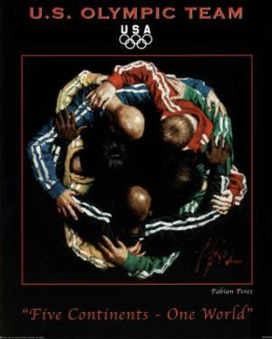 Five Continents One World 2010 U.S. Olympic Team by Fabian Perez