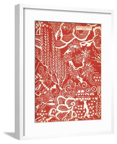 Fabric Design, Art Gout Beaute, 1924--Framed Giclee Print