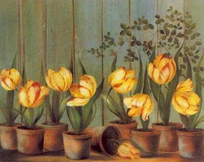 Tulipes Jaunes by Fabrice De Villeneuve