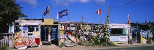 Facade of a Bar on the Beach, Bomba's Surfside Shack, Tortola, British Virgin Islands