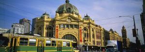 Facade of a Building, Flinders Street Station, Melbourne, Victoria, Australia