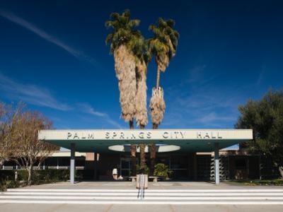 Facade of a Government Building, Palm Springs City Hall, Palm Springs, California
