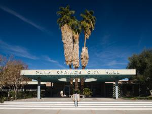 Facade of a Government Building, Palm Springs City Hall, Palm Springs, California