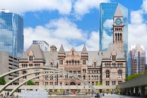 Facade of a Government Building, Toronto Old City Hall, Toronto, Ontario, Canada