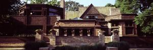 Facade of a House, Frank Lloyd Wright Home and Studio, Oak Park, Cook County, Illinois, USA