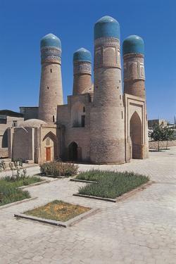 Facade of a Madressa, Chor-Minor Madrasah, Bukhara, Uzbekistan