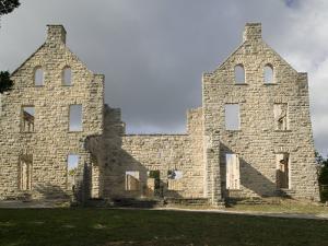 Facade of an Old Building, Ha-Ha-Tonka Castle, Ha-Ha-Tonka State Park, Camdenton, Missouri, USA