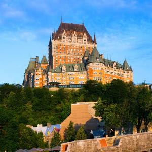Facade of Chateau Frontenac in Lower Town, Quebec City, Quebec, Canada