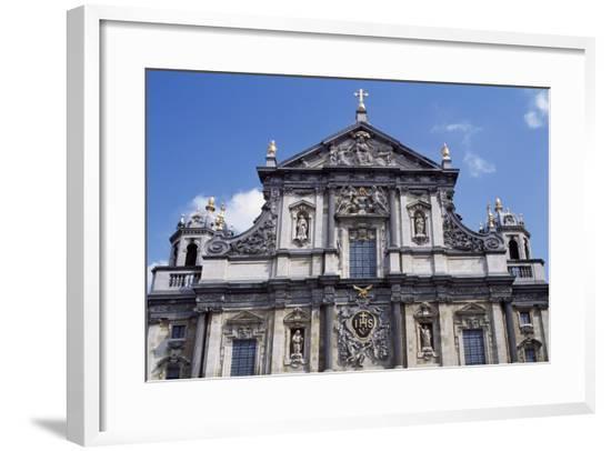 Facade of Church of St Charles Borromeo, 1615-1625-Peter Huyssens-Framed Giclee Print