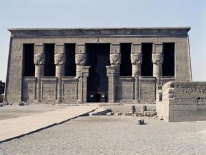 Facade of Temple of Hathor, Dendera, Ptolemaic Period