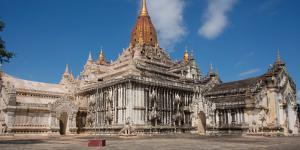 Facade of the Ananda Phaya temple, Bagan, Mandalay Region, Myanmar