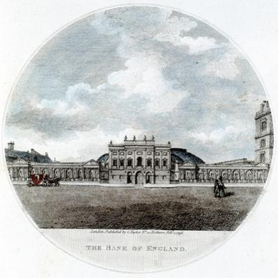 Façade of the Bank of England, Threadneedle Street, London, 1796