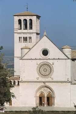 Facade of the Basilica of St Francis, Assisi