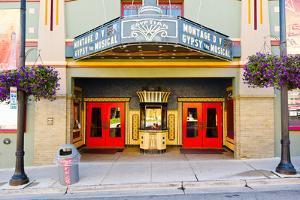 Facade of the Egyptian Theater, Main Street, Park City, Utah, USA