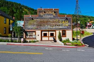 Facade of the High West Distillery Building, Park City, Utah, USA