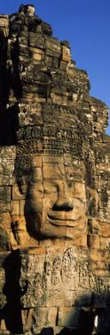 Face Carved on Rocks in a Temple, Bayon Temple, Angkor, Cambodia