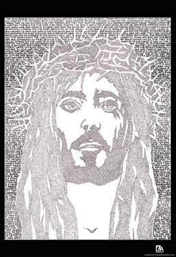 Face of Jesus Text Poster