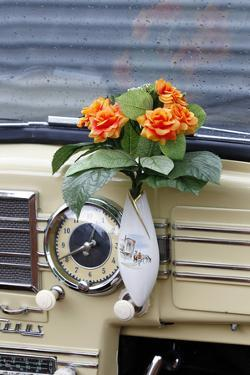 Vintage Car, Buckeltaunus, Convertible, Year of Construction Unknown, Detail, Vase on the Dashboard by Fact