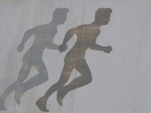 Fading Silhouette of Running Man