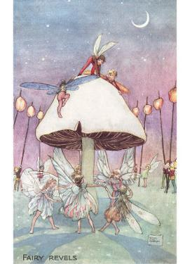 Fairies Dancing under Toadstool