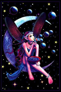 Fairy Dream Flocked Blacklight Poster