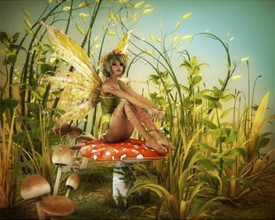 Fairy Enjoying Last Sunbeams