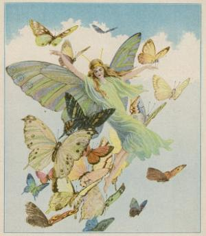 Fairy Flying with Butterflies