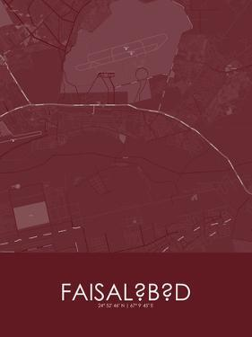 Faisalabad, Pakistan Red Map