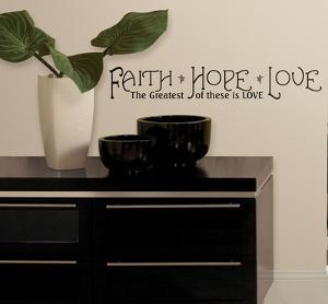Faith, Hope & Love Peel & Stick Quotable