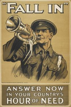 Fall In.' Answer Now in Your Country's Hour Of Need'