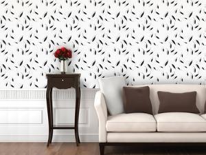 Falling Leaves - Grey Morning Self-Adhesive Wallpaper